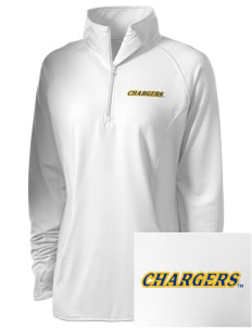 University of New Haven Chargers Embroidered Ladies Stretched Half-Zip Pullover