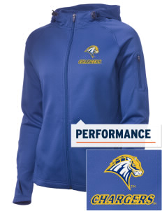 University of New Haven Chargers Embroidered Women's Tech Fleece Full-Zip Hooded Jacket