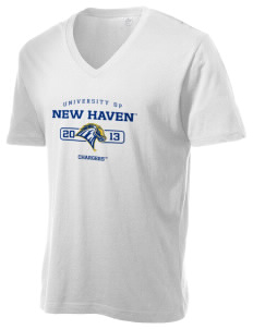 University of New Haven Chargers Alternative Men's 3.7 oz Basic V-Neck T-Shirt