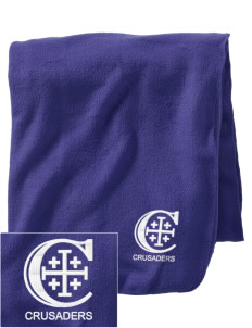 Christendom College Crusaders Embroidered Holloway Stadium Fleece Blanket