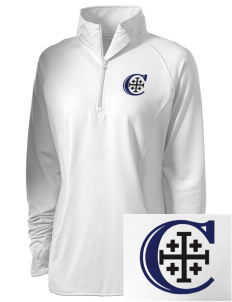 Christendom College Crusaders Embroidered Ladies Stretched Half-Zip Pullover