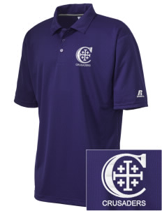 Christendom College Crusaders Embroidered Russell Coaches Core Polo Shirt