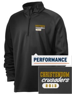 Christendom College Crusaders Embroidered Men's Tech Fleece 1/4 Zip Pullover