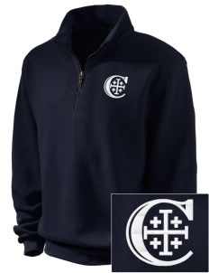 Christendom College Crusaders Embroidered Men's 1/4-Zip Sweatshirt