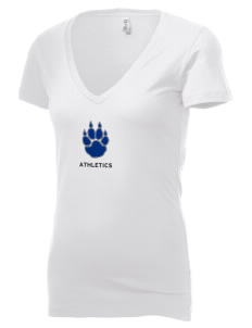 Madison Area Technical College WolfPack Women's 4.2 oz Jersey Deep V-Neck T-Shirt