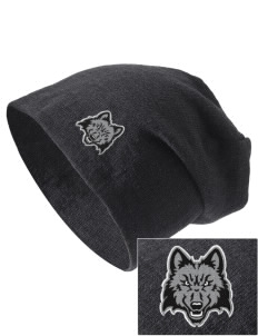 Madison Area Technical College WolfPack Embroidered Slouch Beanie