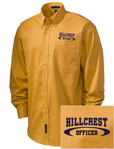 Hillcrest Police Department Embroidered Men's Easy-Care Shirt