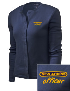 New Athens Police Department Embroidered Women's Cardigan Sweater