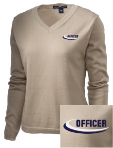 New Athens Police Department Embroidered Women's V-Neck Sweater