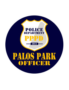 Palos Park Police Department Sticker