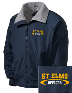 St Elmo Police Department Embroidered Men's Fleece-Lined Jacket