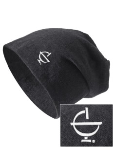 Excelsior College Start to Finish Embroidered Slouch Beanie