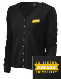La Sierra University Golden Eagles Embroidered Women's Stretch Cardigan Sweater