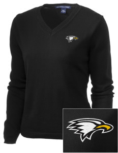 La Sierra University Golden Eagles Embroidered Women's V-Neck Sweater