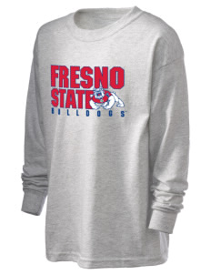 Fresno State Bulldogs Kid's 6.1 oz Long Sleeve Ultra Cotton T-Shirt