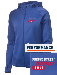 Fresno State Bulldogs Embroidered Women's Tech Fleece Full-Zip Hooded Jacket