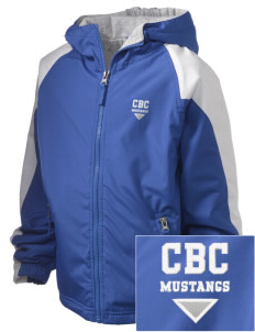 Central Baptist College Mustangs Embroidered Holloway Kids Homefield Zip Front Jacket