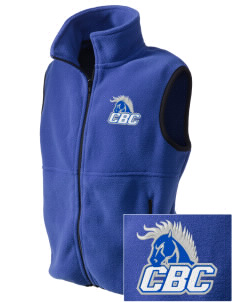 Central Baptist College Mustangs Embroidered Kids' Fleece Vest
