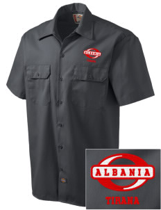 Albania Embroidered Dickies Men's Short-Sleeve Workshirt