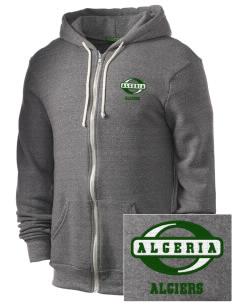 Algeria Embroidered Alternative Men's Rocky Zip Hooded Sweatshirt