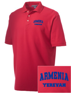 Armenia Embroidered Men's Performance Plus Pique Polo