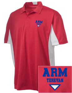 Armenia Embroidered Men's Side Blocked Micro Pique Polo