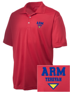 Armenia Embroidered Men's Double Mesh Polo