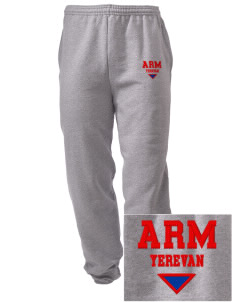 Armenia Embroidered Men's Sweatpants with Pockets
