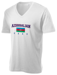 Azerbaijan Alternative Men's 3.7 oz Basic V-Neck T-Shirt