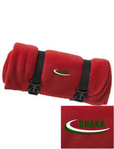 Bangladesh Embroidered Fleece Blanket with Strap