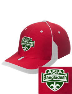 Bangladesh Embroidered M2 Universal Fitted Contrast Cap