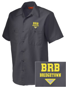 Barbados Embroidered Men's Cornerstone Industrial Short Sleeve Work Shirt