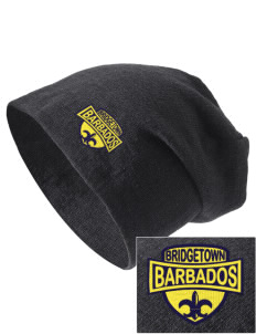 Barbados Embroidered Slouch Beanie