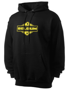 Belgium Men's 7.8 oz Lightweight Hooded Sweatshirt