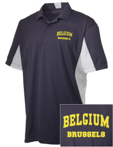 Belgium Embroidered Men's Side Blocked Micro Pique Polo