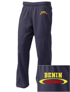 Benin Embroidered Holloway Kid's Open Cuff Warm Up Pants
