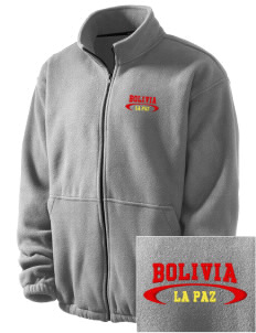 Bolivia Embroidered Men's Fleece Jacket