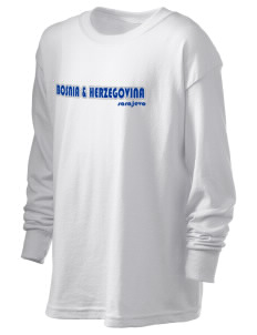 Bosnia & Herzegovina Kid's 6.1 oz Long Sleeve Ultra Cotton T-Shirt