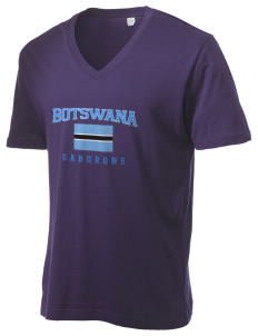 Botswana Alternative Men's 3.7 oz Basic V-Neck T-Shirt