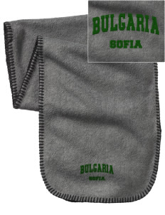 Bulgaria Embroidered Fleece Scarf