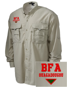 Burkina Faso Embroidered Men's Explorer Shirt with Pockets