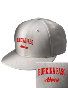 Burkina Faso  Embroidered New Era Flat Bill Snapback Cap