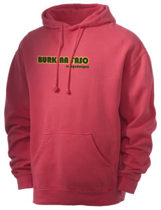 Burkina Faso Men's 80/20 Pigment Dyed Hooded Sweatshirt