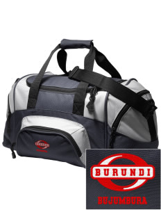Burundi Embroidered Small Colorblock Duffel