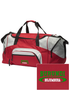 Burundi Embroidered Colorblock Duffel Bag