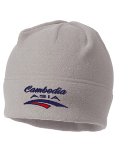 Cambodia Embroidered Fleece Beanie