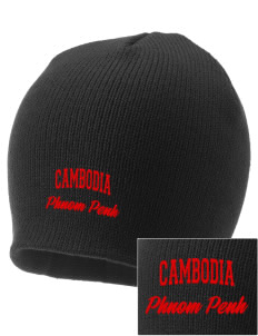 Cambodia Embroidered Knit Cap