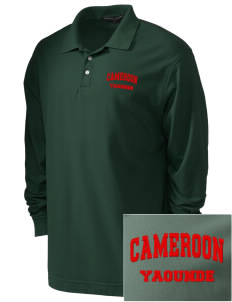 Cameroon Embroidered Men's Pima Pique Long-Sleeve Polo