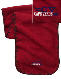 Cape Verde Embroidered Fleece Scarf