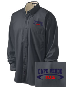Cape Verde Embroidered Men's Easy-Care Shirt